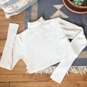 2/$30 Vintage Ribbed Fitted Turtleneck Sweater